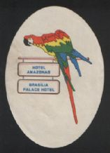 Hotel label luggage labels Brazil amazon Parrot